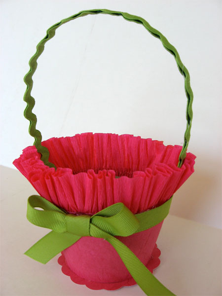 Crepe Paper May Day Basket