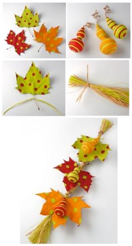 Manualidad con hojas de: www.manualidadesinfantiles.net