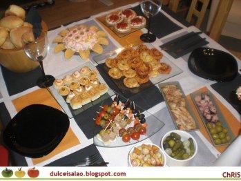 Buffets en casa la cajita azul de roc o - Ideas cena amigos ...
