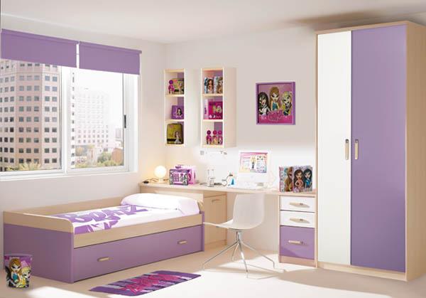 Decoraci n sencilla habitaci n ni as la cajita azul - Decoracion de habitacion de nina ...