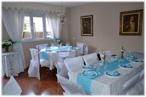 Primera comuni n ii la cajita azul de roc o - Decoracion comuniones en casa ...