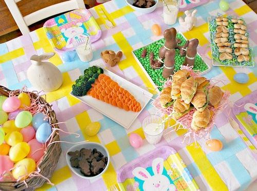 Pascua : Decoración de mesas