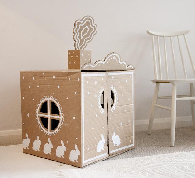 Casas de cartón para niños