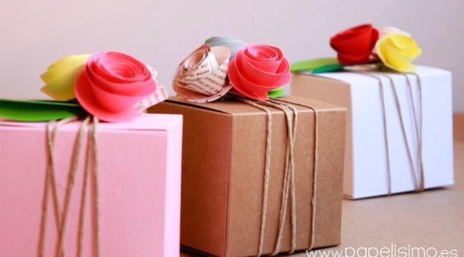 Cestas y cajas regalo para invitados al cumpleaños