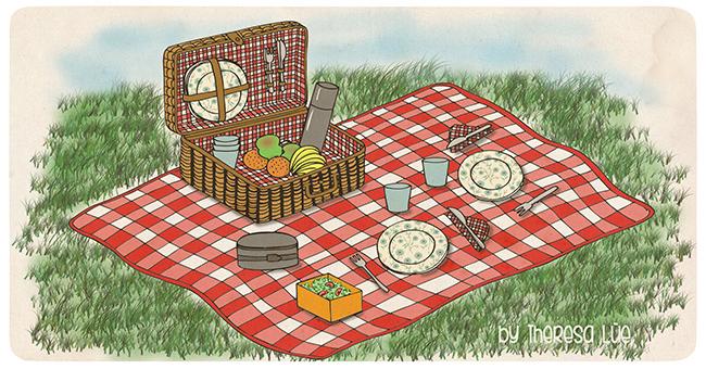 De pícnic cumpleaños en el parque